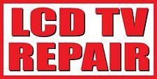 3'x6' LCD TV Repair Vinyl Banner Sign