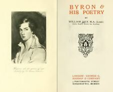 Lord Byron English Poet Romantic Movement She Walks In Beauty 57 Old Book Scans