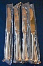 Cuisinart MANSFIELD Set of 4 Dinner Knives Unused 18/10 Stainless Korea Flatware