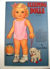 """1985 Paper Dolls """"Queen Holden Collection"""" """"Sleeping Dolls"""" - Uncut *"""