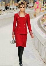Chanel 12A, Pre Fall 2012 Paris Bombay Collection Classic Red Studded Suit 38