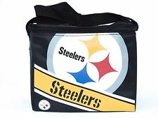 Pittsburgh Steelers 6 Pack Cooler Insulated Lunch Sack Bag NFL Football Licensed