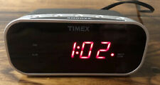 Timex Compact Alarm Clock ~ T121 ~ Black - Red Numbers