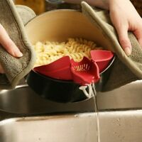 Silicone Water Washing Rice Soup Funnel Pourer Cooking Tool Kitchen Gadget G6A