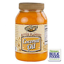 Golden Barrel Butter Flavored Coconut Oil 32 oz Quart Popcorn Cooking Flavor