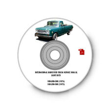 COMPLETE INTERNATIONAL HARVESTER LIGHT TRUCK SERVICE MANUAL 1974-1975 100-500 CD