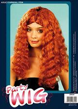 # frisottis Perruque long Auburn Gingembre adulte costume déguisement accessoire