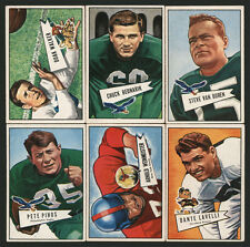1952 BOWMAN SMALL FOOTBALL HALL OF FAME COLLECTION ~ 6 DIFFERENT WORLD CHAMPS
