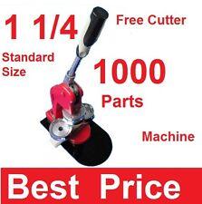 "1 1/4"" Artec Button Maker Machine + 1,000 Parts + Circle Cutter"