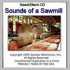 On30  SOUNDS OF A SAWMILL SOUND EFFECTS CD FOR MODEL RAILROADS