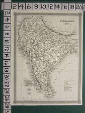 c1836 VICTORIAN MAP ~ HINDOOSTAN ~ INDIA DOMINION OF NEPAL BENGAL MYSORE CEYLON