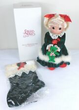 Precious Moments Stocking Doll 2011 19th Edition Little Miss Christmas 8366