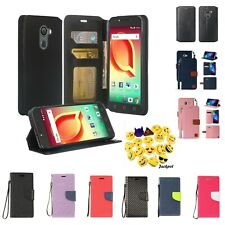 For Fierce XL 2/ Jitterbug Smart2 Wallet PU Leather Flip Credit Card Case