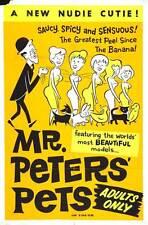 MR. PETER'S PETS Movie POSTER 27x40 Al Hopson Denise Daniels Mickey Frantz Margo