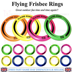 "10"" Neon Flying Ring Disc Frisbee Flyer Adult Kids Family Outdoor Play Toy New"