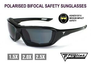 Fuglies Bifocal Polarised Safety Sunglasses - AS/NZS1337 Medium Impact