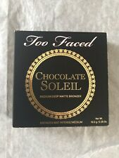 Too Faced Chocolate Soleil Medium/deep Matte Bronzer 10.0g New and Boxed