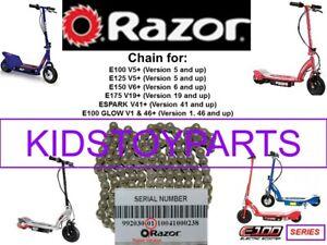 NEW RAZOR #25 72 LINK REPLACEMENT CHAIN RAZOR E100 E125 E150 E175 ESPARK GLOW
