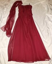 New U.S. Size 5/6 Mori Lee Burgundy Maroon Prom Homecoming Dress Evening Gown