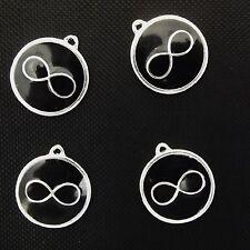 4 x noir émail infinity symbole pendentif charms wicca
