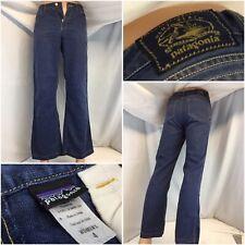 Patagonia Hemp Jeans Sz 4 Blue Hemp Poly Boot Cut Mint Cond YGI C9-620