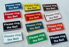 "2"" x 1"" Please Ring the Bell door sign, 21 colours to choose from"