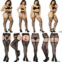 Womens Sexy Sheer Pantyhose Socks Tights Lace Fishnet Garter Stockings Hold Up
