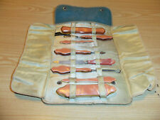 Vintage Queen Manicure Set - Pink Lucite / Bakelite with Leather Case
