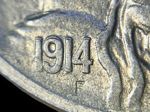1914-S RPD BUFFALO NICKEL, RARE IN SOLID GEM STRONG STRIKE, TOUGH TO FIND! BN078