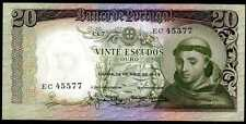 PORTUGAL -  20  ESCUDOS  1964  Prefix EC  -  P  167a   Uncirculated Banknotes