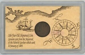 1808 East India Co $10 Cash Coin ~ From Shipwreck of the Admiral Gardner in 1809