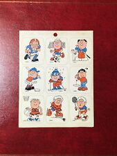 Vintage Drawing Board Greeting Cards Sticker Sheet.