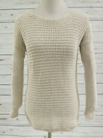 Joie Sweater Pullover Oatmeal Crochet Cotton Size Extra Small Mixed Knit