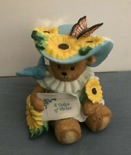 Chapeau Noelle Virginia Sunflower Butterfly Bear 171611 Large Lucy Rigg Enesco