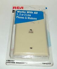 RCA 6 Conductor IVORY Modular Wall Outlet NIP
