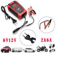 Caricabatterie Mantenitore Batteria 12V 6A 6V Con Cavetti Per Auto e Inteligente