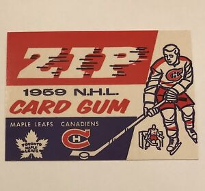 1992-93 Parkhurst Parkies Checklist #3 Reproduction 1958-59 Wrapper, Maple Leafs