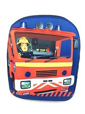 NEW OFFICIAL FIREMAN SAM BOYS 3D EVA BACKPACK RUCKSACK NURSERY SCHOOL TRAVEL BAG