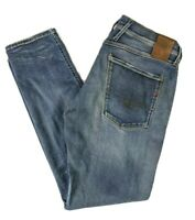 Mens REPLAY Anbass Mid Wash Jeans W36 L32 Blue Tapered Fit