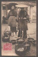 TONKIN INDOCHINE INDOCHINA POSTCARD 1907 MARCHANDS DE POISSONS