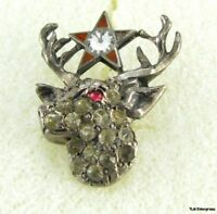 BPOE ELKS - fraternal Vintage Jewled Screw back PIN
