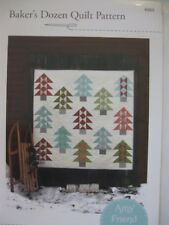 Bakers Dozen Modern Xmas Tree Pine Scrap Fabric Quilt Pattern Amy Friend MODA