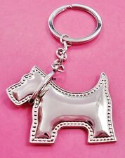 Adorable West Highland Terrier Dog Key Chain Or Purse Charm Silver Tone