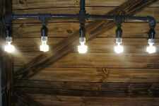 NEW Edison Age Industrial 5-Light Pendant Pipe Light Chandelier, Industrial bulb