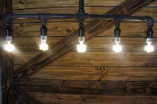 NEW Edison Age Industrial 5-Light Pendant Pipe Light Chandelier, Industrial bulb