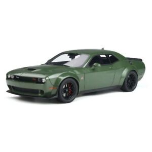 Dodge Challenger R/T Scat Pack Widebody 2019 Green 1/18 - GT815 GT SPIRIT