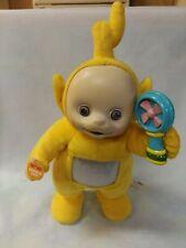 """VINTAGE TELETUBBIE Talking,walking,singing 16"""" Plush LaLa Yellow Doll RARE 2004"""