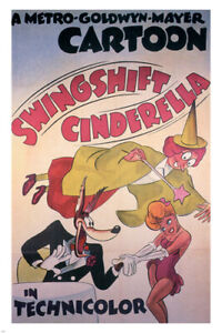 Swing shift Cinderella by Tex Avery MOVIE POSTER 1945 cartoon 24X36 HOT NEW