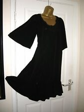 10 TALL NEXT BLACK LOOSE FIT DRESS HIPPIE COOL VISCOSE LAGENLOOK STYLE