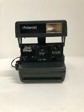 Polaroid One Step - 600 Flim Instant Camera w/Neck Strap - Black - Untested